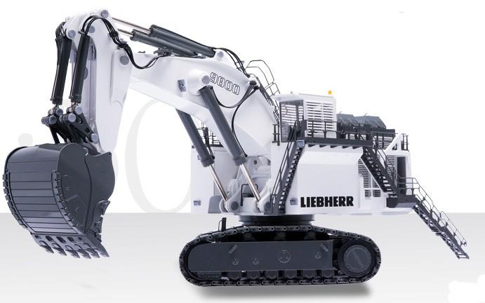 Liebherr 9800 track backhoe