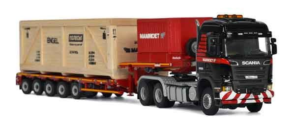 MAMMOET-SCANIA R6 HIGHLINE 6X6 + 5 AXLE LOW LOADER + WOODEN BOX