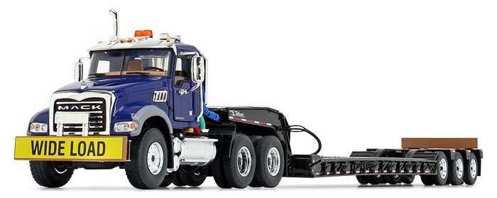 Mack Granite MP and Talbert® Tri-Axle Lowboy-Blue/Black
