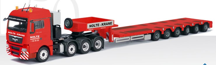 "MAN TGX XLX SLT 4 axle with 6 Axle Platform Trailer '""NOLTE"""