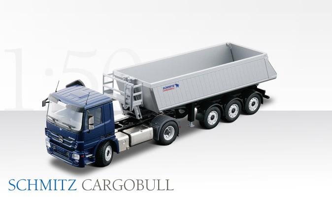 Mercedes Actros with Schmitz CARGOBULL 3 axle dump trailer