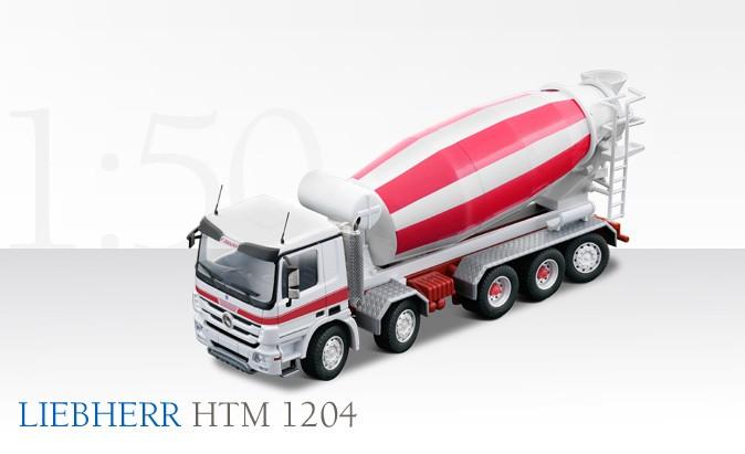 Mercedes 5 axle truck with Liebherr HTM 1204 mixer