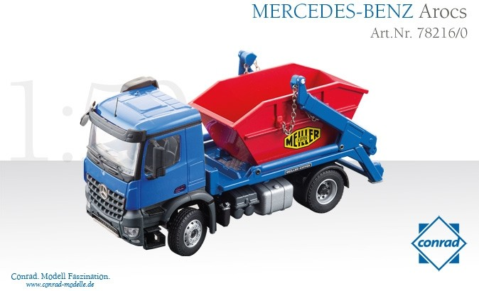 MERCEDES AROCS WITH MEILLER SKIP LOADER