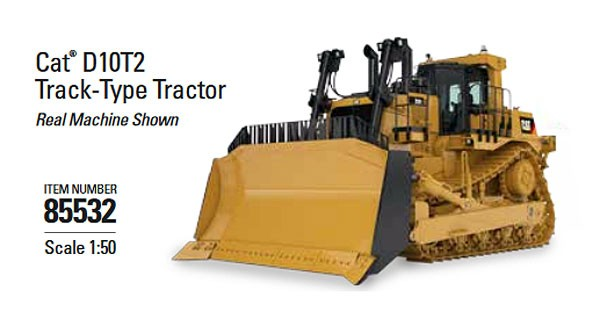 Caterpillar D10T2 Track-Type Tractor Dozer - High Line Series