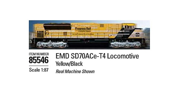 EMD SD70ACe-T4 Locomotive in Yellow and Black