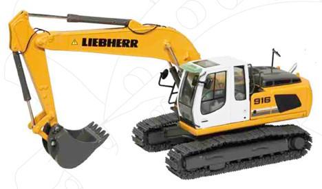 Liebherr R 916 track excavator classic
