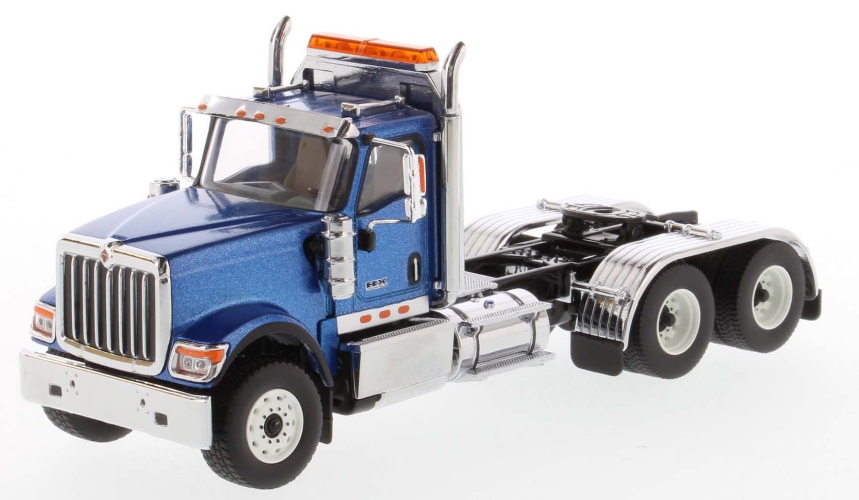 International HX520 Day Cab Tandem Tractor in Metallic Blue - Cab Only