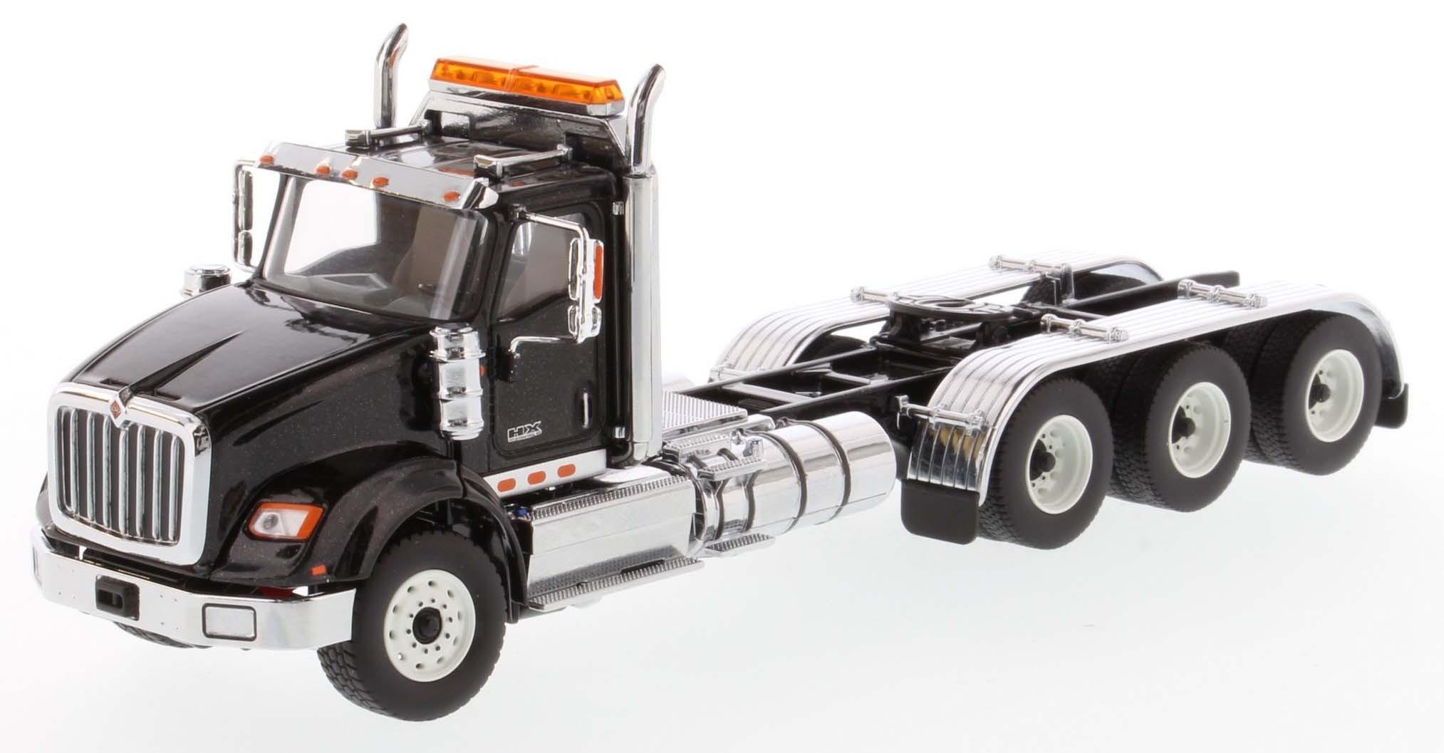 International HX620 Day Cab Tridem Tractor in Metallic Black - Cab Only