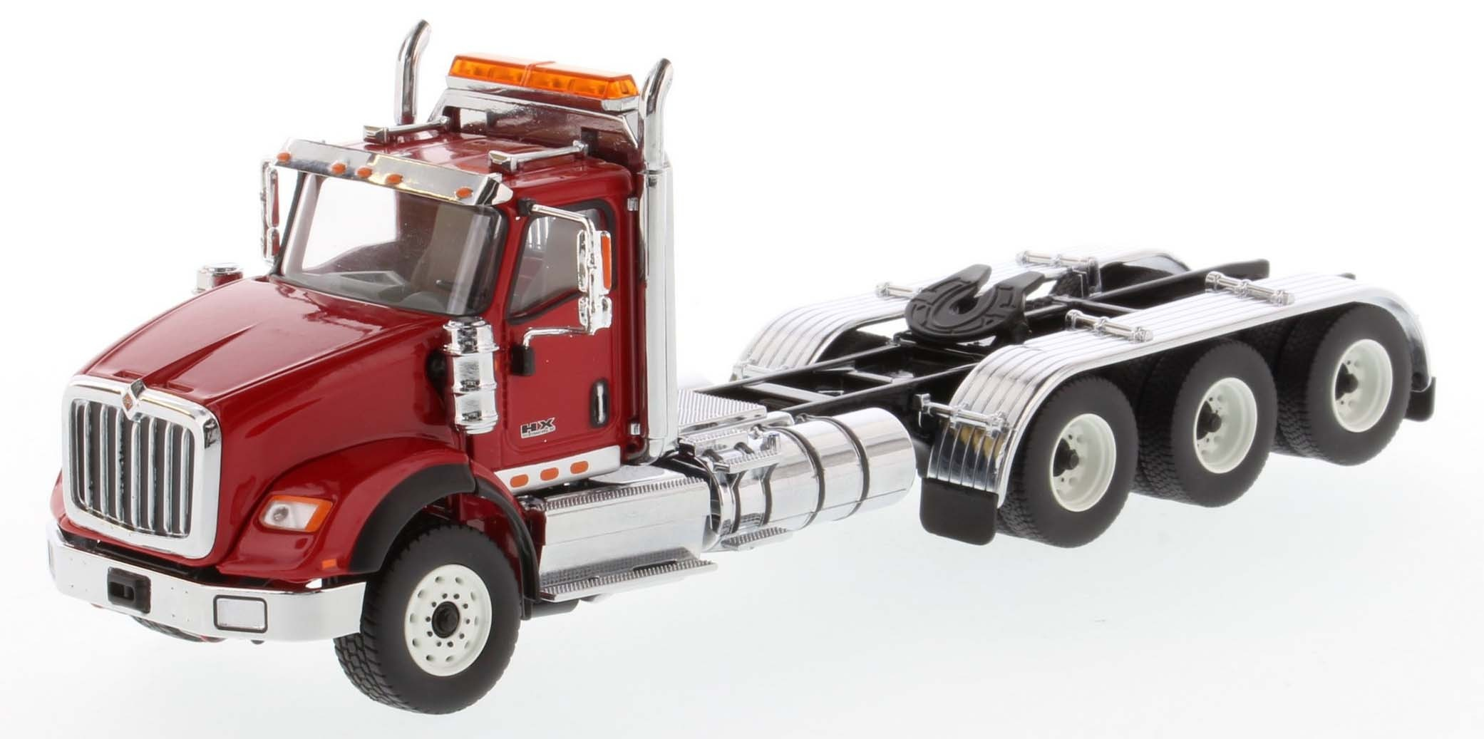 International HX620 Day Cab Tridem Tractor in Red - Cab Only