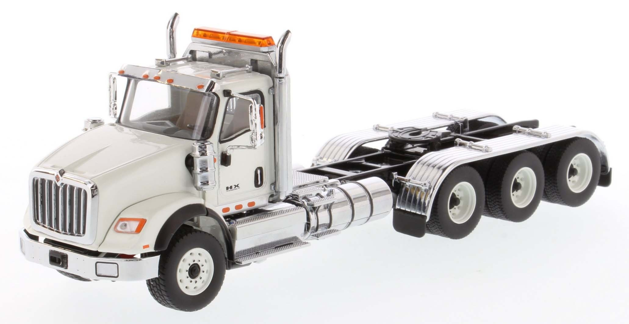 International HX620 Day Cab Tridem Tractor in White - Cab Only