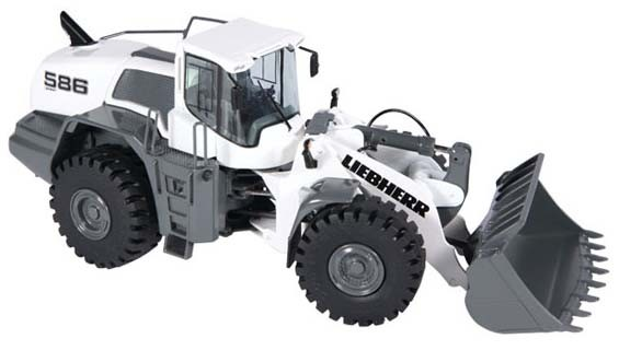 Liebherr L586-4 Wheel Loader in White-PREORDER