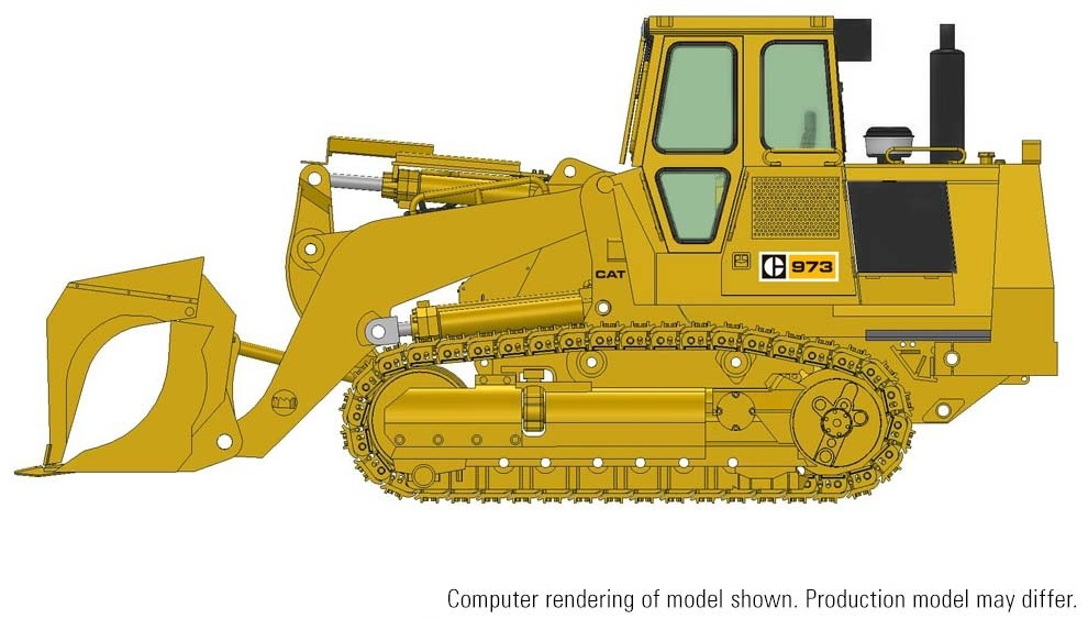 Cat 973 Track Loader w/ Demolition Package – Die-cast