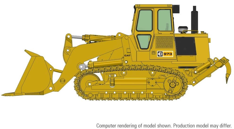 Cat 973 Track Loader w/ Enclosed ROPS and 3-Shank Ripper – Die-cast