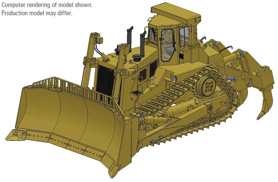 CAT D11N Dozer with U-Blade & Multi-Shank Ripper – Die-cast-PREORDER