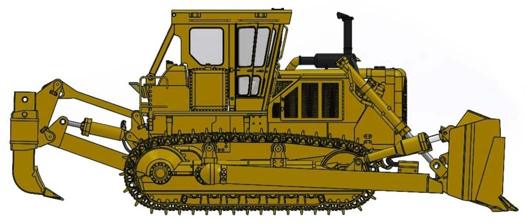 Cat® D8K Dozer-Closed ROPS with U-blade & Multi-Shank Ripper – Die-Cast-PREORDER