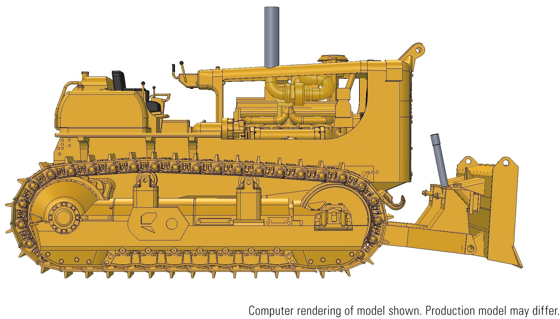 D9G Push Dozer with 9C Cushion Blade – Die-cast