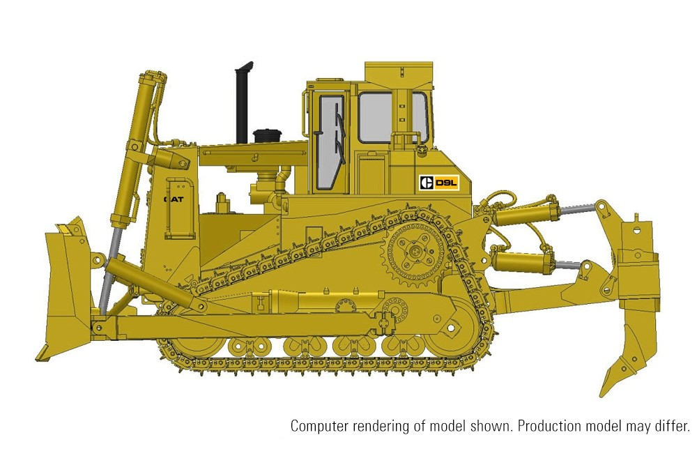 Cat D9L Track-Type Tractor with Multi-Shank Ripper – Die-Cast