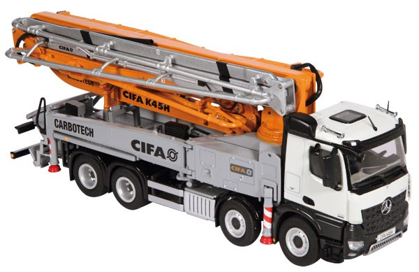Mercedes Arocs with CIFA K45H mounted concrete pump