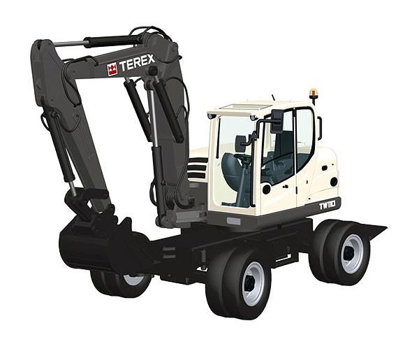 Terex TW 110 Wheel Excavator