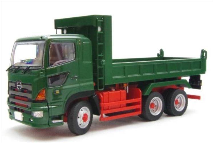 HINO PROFIA DUMP TRUCK 6x4 GREEN MADE BY KEN KRAFT-LIMITED EDITION