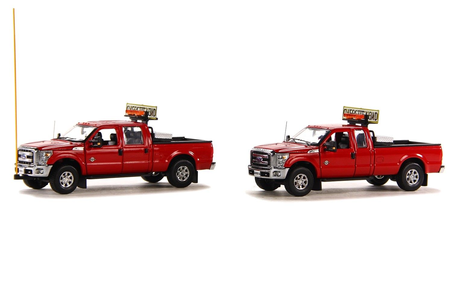 FORD F250 PICKUP TRUCK ESCORT SET-RED/CHROME