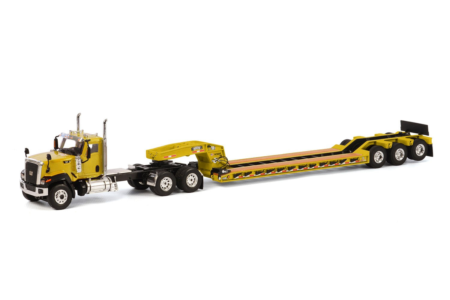 Caterpillar CT680 with 3 axle lowboy-Yellow