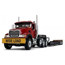 Mack Granite with Tri-Axle Lowboy Trailer-RED/BLACK