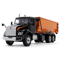 Kenworth T880 with Tub-Style Roll-Off Container-BLACK/ORANGE