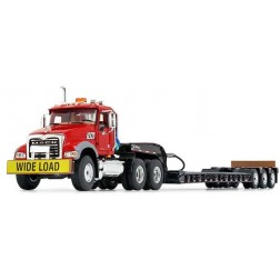 Mack Granite® MP and Talbert® Tri-Axle Lowboy-Red/Black-PREORDER