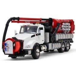 KENWORTH T880 WITH VACTOR 2100 PLUS PD COMBINATION SEWER CLEANER-WHITE CAB/RED BODY