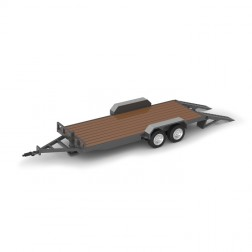 TANDEM AXLE TRAILER-MAGNETIC (GRAY)