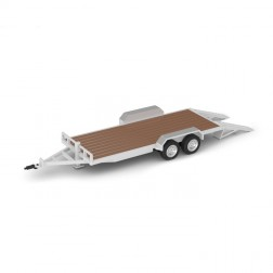 TANDEM AXLE TRAILER-OXFORD WHITE
