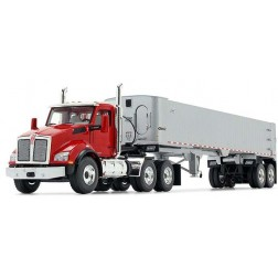 Kenworth T880 with East Genesis End Dump Trailer-Viper Red/Chrome-PREORDER