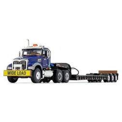 Mack Granite MP and Talbert® Tri-Axle Lowboy-Blue/Black-PREORDER