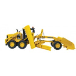 Komatsu GD 655 grader with V plow and wing blade
