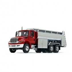 International DuraStar with Liquid Fuel Tank Trailer-Red/Chrome