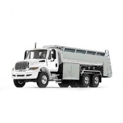 International DuraStar with Liquid Fuel Tank Trailer-White/Chrome