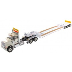 International HX520 Tandem Day Cab Tractor with XL 120 Lowboy Trailer in White-PREORDER
