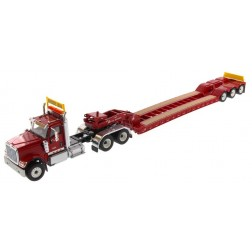 International HX520 Tandem Day Cab Tractor with XL 120 Lowboy Trailer in Red