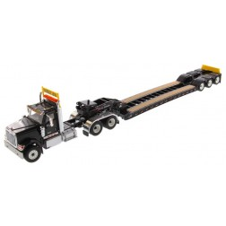 International HX520 Tandem Day Cab Tractor with XL 120 Lowboy Trailer in Black