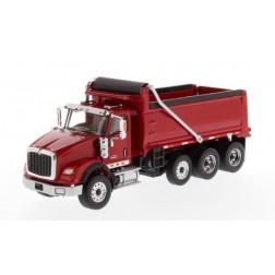 International HX620 Tridem Dump Truck with Chrome Wheels-Red