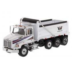 Western Star 4700 SF Dump Truck in White with White Dump Body