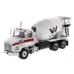 Western Star 4700 SF Concrete Mixer Truck in White with White Drum