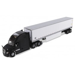 Freightliner New Cascadia with Sleeper in Black and 53' Dry Van Trailer with Skirts