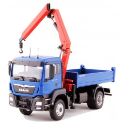 MAN TGS M Euro 6 2 Axle 6X6 Truck with Unloading Crane-Blue