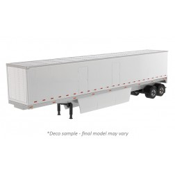 53' Dry Van Trailer in White - Trailer Only