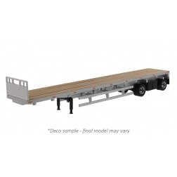 53' Flat Bed Trailer in Silver - Trailer Only