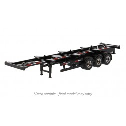 40' Skeletal Trailer in Black - Trailer Only