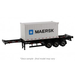 Skeletal Trailer with 20' Shipping Container