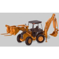Case 695SR all wheel steer backhoe
